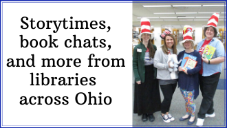 Storytimes across Ohio with photo of our youth services staff