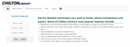 Screenshot of Chilton Library homepage.