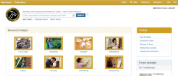 Screenshot of Home Improvement Reference Center homepage.