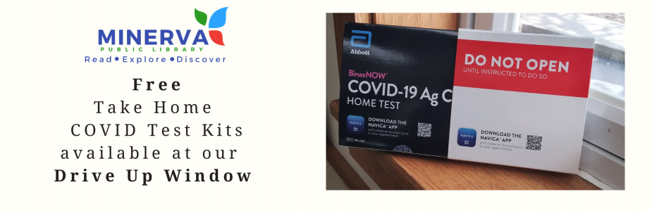 Free Covid take home tests are available at our drive up window