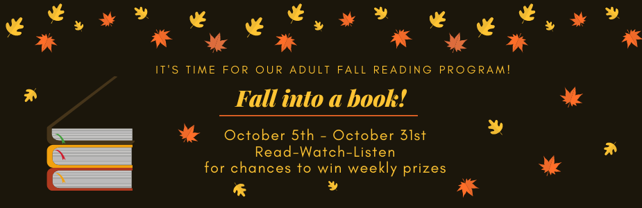 Fall Into A Book Adult Reading Program