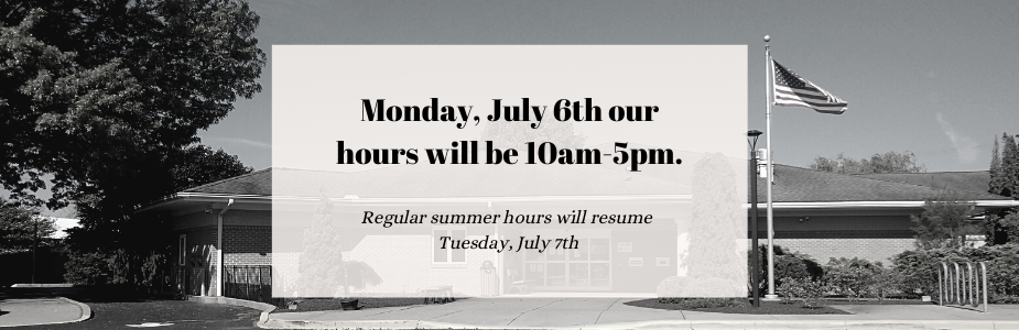 We will be closing at 5pm on Monday.