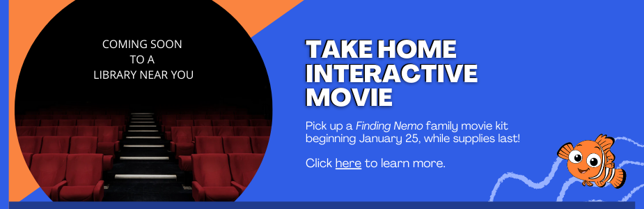 Pick up a Finding Nemo family movie kit beginning January 25, while supplies last! Click here to learn more.