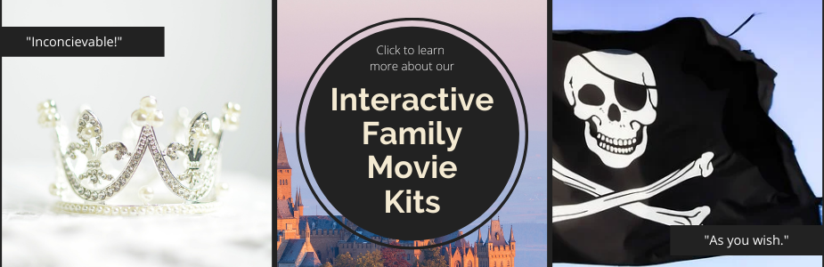 Click here to learn more about our take home interactive family movie kits!